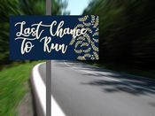 Wedding  Last Chance To Run Art Deco  -  Metal Wall Sign